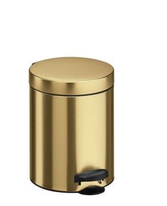 Meliconi koš za odpadke 5 l PEDAL BIN, zlat