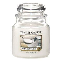 Yankee Candle Svíčka ve skleněné dóze Yankee Candle -Dětský pudr 169629, 410 g
