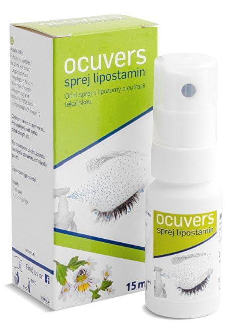Ocuvers spray lipostamin oční kapky ve spreji, liposomy a Euphrasia 15 ml