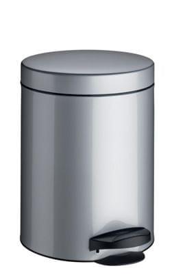 Meliconi Koš na odpadky 5 l PEDAL BIN stříbro