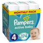 1 - Pampers plenice Active Baby 4 Maxi, 174 kosov
