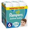 Pampers plenice Active Baby 6 Extra Large (13-18 kg) 124 kosov
