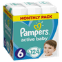 1 - Pampers plenice Active Baby 6 Extra Large, 124 kosov