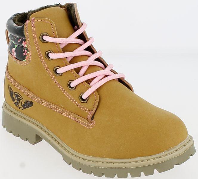 V+J dívčí zimní boty 34 okrová