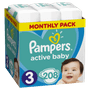 1 - Pampers pelene Pleny Active Baby 3 Midi, 208 kom