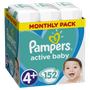 1 - Pampers plenice Active Baby 4+ Maxi, 152 kosov