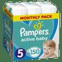 1 - Pampers Pleny Active Baby 5 Junior (11-16kg) Měsíční balení - 150 ks