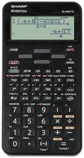 Sharp kalkulator ELW531TLBBK, tehnični, 420 funkcij, 4-vrstični, črn