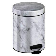 Meliconi koš za odpadke 5 l PEDAL BIN MARBLE