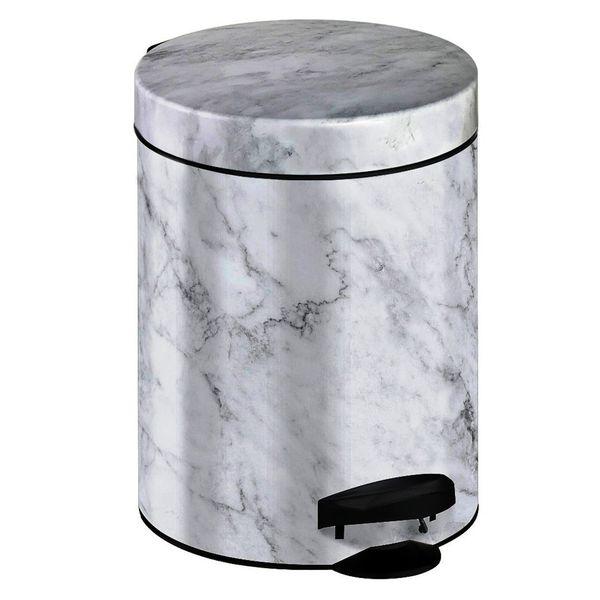 Meliconi Koš na odpadky 5 l PEDAL BIN MARBLE