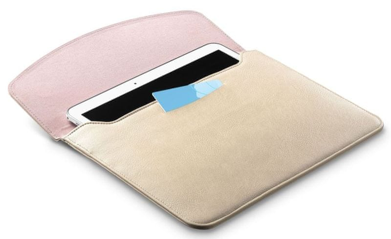 """CellularLine Pouzdro z umělé kůže Travel pro tablety do 10,5"""", béžovo-růžové TRAVELTAB105P"""