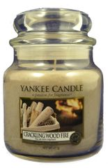 Yankee Candle Classic stredná 411 g Crackling Wood Fire
