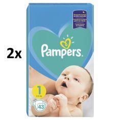 Pampers New Baby 1 Newborn - 2 x 43 ks