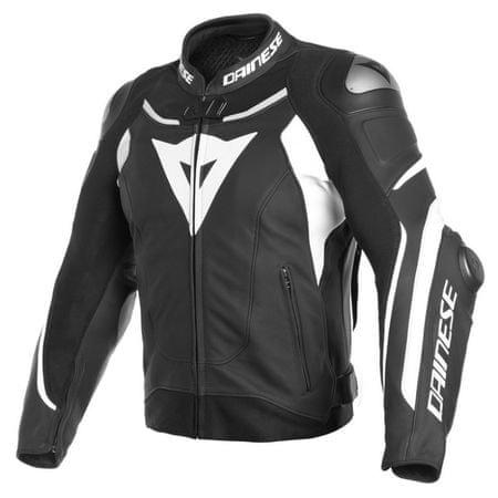 Dainese pánska kožená moto bunda  SUPER SPEED 3 veľ.46 čierna/biela