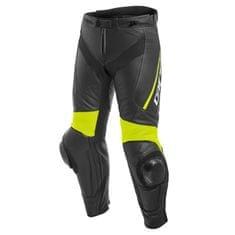 Dainese pánské kožené moto kalhoty  DELTA 3 černá/fluo žlutá