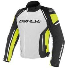 Dainese pánska šport moto bunda  RACING 3 D-DRY šedá/čierna/fluo-žltá,