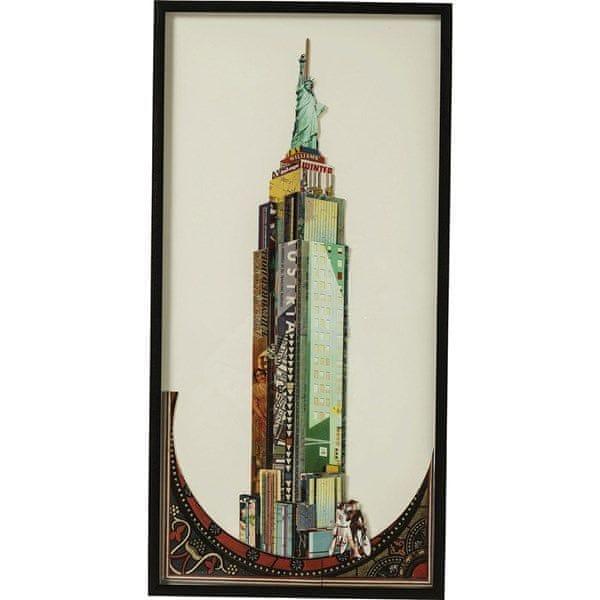 KARE Obraz s rámem Art Empire State Building 100×50 cm