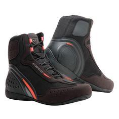 Dainese kotníkové moto boty  MOTORSHOE D1 D-WP černá/fluo červená/antracitová