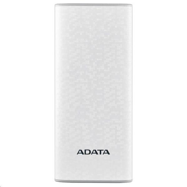Adata ADATA PowerBank P10000 - externí baterie pro mobil/tablet 10000mAh, bílá AP10000-DUSB-CWH