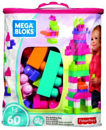 MEGA BLOKS Klocki First Buliders 60 szt., Różowe
