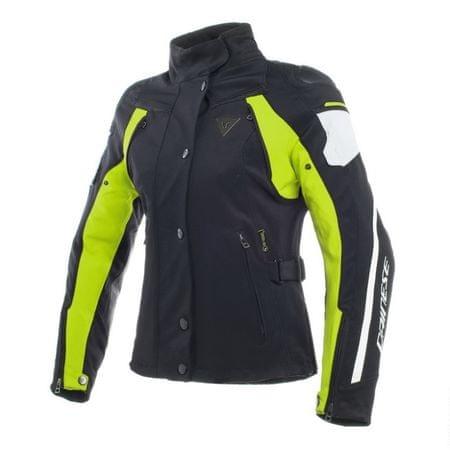Dainese bunda dámská RAIN MASTER LADY D-DRY vel.40 černá/fluo žlutá
