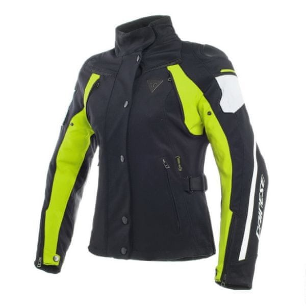 Dainese bunda dámská RAIN MASTER LADY D-DRY vel.46 černá/fluo žlutá