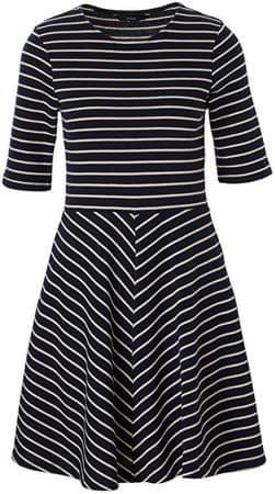 Vero Moda Dámské šaty Ula 2/4 Short Dress A Night Sky Snow White (Velikost XS)