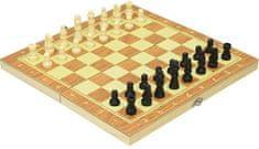 Igra šah, lesena, 24,5 x 12 x 2,2 cm