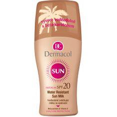 Dermacol Vodeodolné zvláčňujúce mlieko na opaľovanie v spreji SPF 20 Sun (Water Resistant Sun Milk) 200 ml