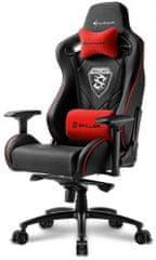 Sharkoon stol Gaming Skiller SGS4, črn/rdeč