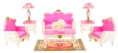 Lamps zestaw pokój dzienny do domu dla lalek Deluxe Glorie