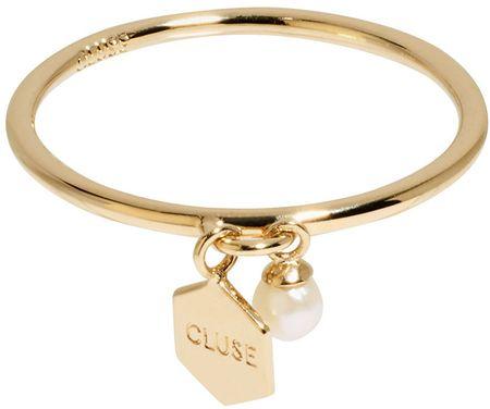 Srebrny pierścionek z sześciokątem i koralikiem CLJ41007 (obwód 54 mm) srebro 925/1000