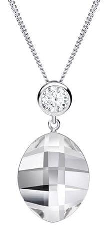 Preciosa Kolie z czystych kryształów Han 6098 00 srebro 925/1000