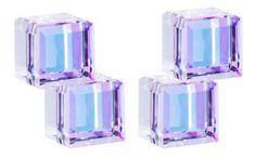 Preciosa Stříbrné náušnice s krystaly Crystal Cubes 6063 43 stříbro 925/1000