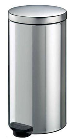 Meliconi koš za smeće, 30 L, srebrni metalni