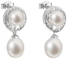 Evolution Group Stříbrné náušnice s pravými perlami Pavona 21039.1 stříbro 925/1000