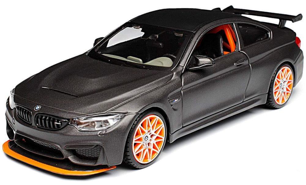 Maisto BMW M4 GTS šedé 1:24