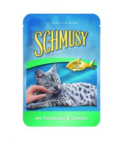 Schmusy Fish tuňák+zelenina kapsička 100g