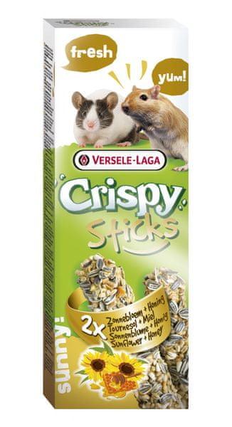 Versele Laga Crispy Sticks tyčinky slunečnice a med 2x55 g