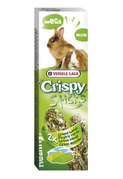 Versele Laga Crispy Sticks tyčinky zelená louka pro morčata a králíky 2x55g