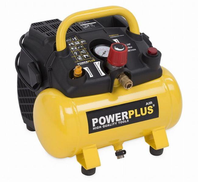 PowerPlus POWX1721 Kompresor 1100 W 6 L