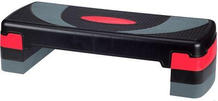 Avenio step klop za aerobiko, 10-20 cm, črna/siva/roza