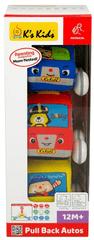 K´s Kids Doboz 3 db- hátrafelé húzással meginduló, szövet autók