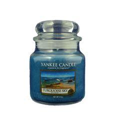 Yankee Candle Svíčka ve skleněné dóze Yankee Candle -Tyrkysová obloha 169674, 410 g