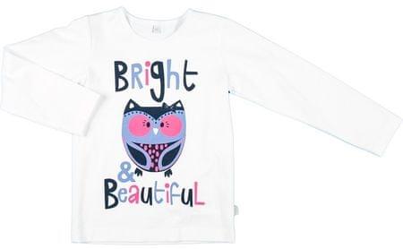 MMDadak majica za djevojčice Sova, 62, bijela
