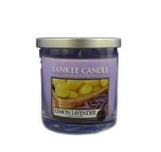 Yankee Candle Citrón a levandule, 198 g - fantasticky vonící <b>svíčka ve skleněném válci</b> s nerezovým víčkem značky <b>Yankee Candle</b>, 169754