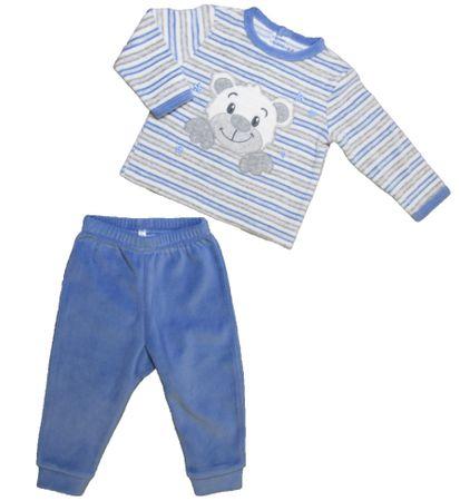Carodel fantovska pižama z motivom medveda, 62, modra