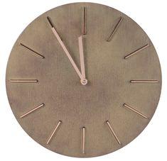 Kaemingk Nástěnné hodiny 30,5x4,2cm, plastové s dřevěným vzhledem