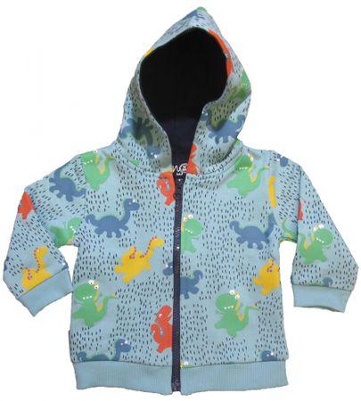 Carodel chłopięca bluza z dinozaurami 62 niebieska