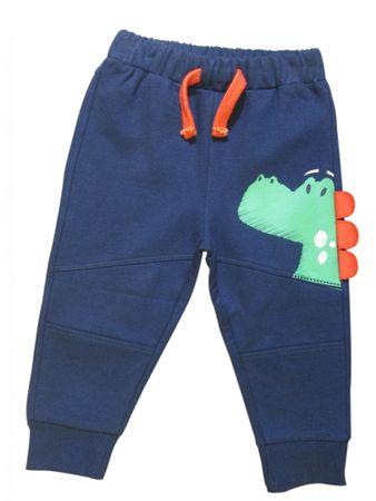 Carodel spodnie chłopięce z dinozaurem 62 niebieskie